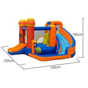 Supplie do jardim Splash Splash Slash com Casa de Bounce para Kids Inflável Park Combo Piratas Ilhas Playground Exterior Pirata Barco Divertem