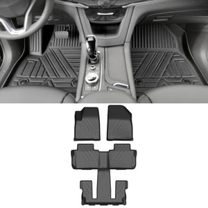 For Cadillac XT6 2019-2021 6-seats Car Floor Mats All-Weather TPE Foot Mats Cargo Liner Pad Waterproof Trunk Tray Accessories