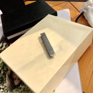 2021 роскошные мужские высококачественные галстуки зажимы тонкой стальной галстуки свадебный подарок с установленным коробкой