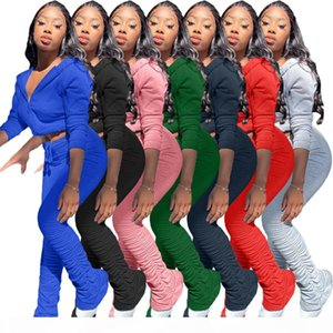 2 Piece Set Women Tracksuit Solid Hoodies Sweatshirt Top and Pants Sportswear Jogging Suit Casual Female Autumn Clothing Sets7colours