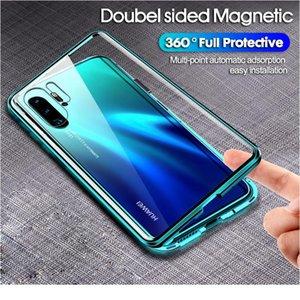 360 Full Magnetic Adsorption Metal Case для Huawei P40 30 20 PRO MATE 30 20 P20 P30 P40 LITE E DOUB JLLOJY