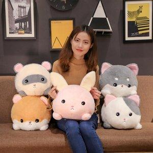 30 40cm Huggable Stuffed Lying Rabbit Mouse Dog Cat Doll Fuzzy Plush Soft Animal Toy Boys Girls Xmas Gift Z1127