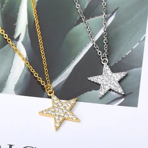 Charm Five-pointed Star Necklace For Women Choker Zircon Pendant Metal Chain Star Short Necklaces Charming Necklace Jewelry Gift