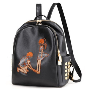 New fashion embroidered shoulder women's leisure travel bags C1008