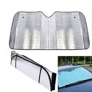 1 ADET Araba Cam Sunshades Ekran Şerit Ön Sunshades Kapak Anti UV Alüminyum Folyo Tek Taraflı Güneş Gölge Araba Aksesuarları1