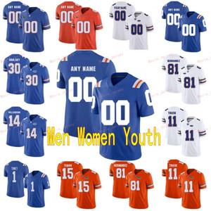 Costurado personalizado 1 kadarius toney 10 josh hammond 11 kyle trask 12 jefferson florida gators homens mulheres juventude faculdade jersey