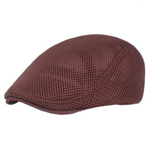 Men Hat Accessories Adjustable Golf Beret Fashion Cabbie Duckbill Flat Newsboy Cap Driving Casual Cool Cotton Blend1