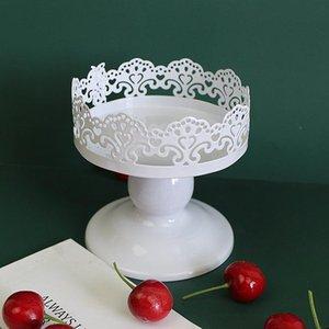 Stand gâteau, Footed gâteau Platter Serveur, Affichage dentelle Dessert Métal Platter pour les Parties