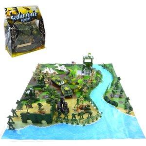 1 SET MILITAIRE MILITAIRE MODÈLE DES SOLDATS DE L'ACTION Figurines Action Toy Diy Sandbox Jeux Mini Soldat PlaySet Modèle Jouet pour Garçon Cadeaux 201202