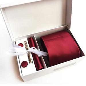 2017 New Arrival 100% Silk Striped Men Ties Neck tie set Fashion Formal wear business wedding party Solid hombre corbatas K18