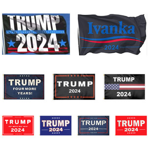 12 Styles Trump 2024 Flags Hanging 90*150cm Trump For More Years Banners 3x5ft Digital Print Donald Trump 2024 President Flag BH4466 TQQ