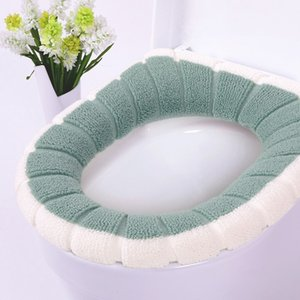 Comfortable Velvet Coral Bathroom Toilet Seat Cover Washable Closestool Standard Pumpkin Pattern Soft Cushion Hot Sale #20