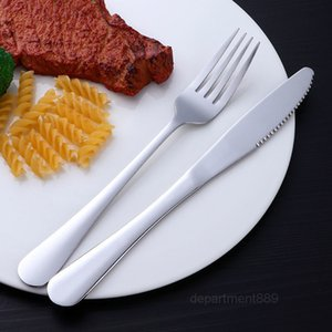 Thickened stainless steel fork Nordic style household Western tableware steak knife and set net red creative