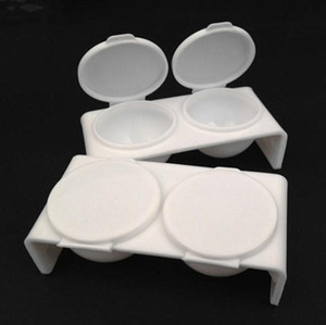Acrylique Disque liquide plastique Dappen Dish Bowl Coupe avec Cap Liquide Glitter Poudre Acrylique Pen-Stylo à ongles Lavage Caviar Nail Styling Outils GWF3384