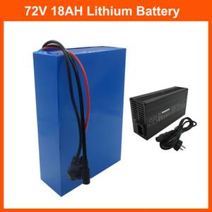 72 V 1500 W Lityum Pil Paketi 1000 W 72 V 18AH Ebike Pil 72 V 20 S Pil Paketi 18650 Hücre 30A BMS ve 84V 2A Şarj