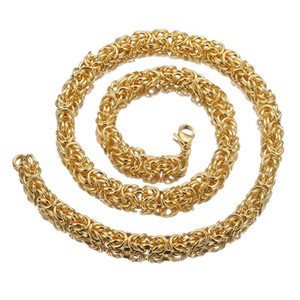 8mm Luxury Men Necklace Stainless Steel Gold Handmade Chain Personality Hip Hop Rock Style Fashion Women Gift Jewelry