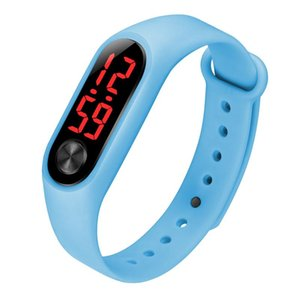 The New LED Digital Display Bracelet Electronic Watch Female Children Student Silicone Clock Sports Watch Bracelet