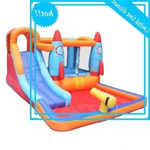 Pré-vente Meilleures diapositives pour les enfants Piscine gonflable gonflable gonflable pour enfants avec pistolet à eau et ventilateur d'air
