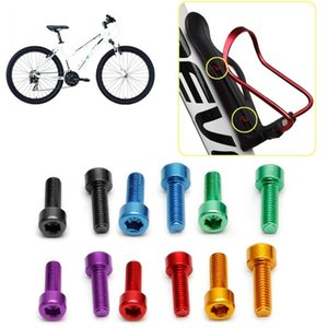 1 Pair Bike Water Bottle Cage Bolts M5 Aluminium Alloy Hex Socket Tapping Screws MTB Bicycle Kettle Rack Screw