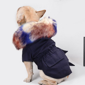 Warm Winter Dog Jacket Pet Dog Clothes Coat Hooded Fur Pets Dogs Clothing For Small Medium Large Dogs French Bulldog Ro bbywAD
