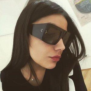 UV400 Female Fashion Vintage 2020 Brand Square Design Women Sunglasses Rivet Big Frame Gradient Sun Glasses Luxury For Oversized Rdqrv