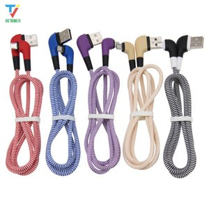Elbow 90 Degree Micro   Type C To USB Quick Charging Cable Data Line Charge Cord For Xiaomi Huawei Phone Accessory 50pcs lot