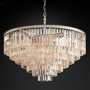 Nordic Postmodern Crystal Chandeliers Lighting for Villa Home Restaurant Hotel Deco Luxury Round Creative Simple Hanging Lamp