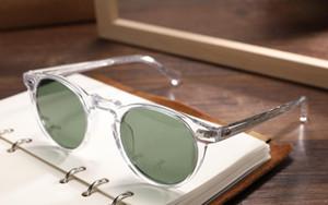Gregory Peck Brand Designer 45mm 47mm Hombres Mujeres Gafas de sol Vintage Gafas de sol polarizadas OV5186 Gafas de sol retro OV 5186 con caja de caja