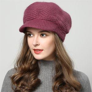 Chapeaux d'hiver Jiyouou pour femmes crullies Bonnets fabriqués à la main chapeaux Nouveau chapeau de femmes chapeau tricoté Cap Kaki en gros 201221