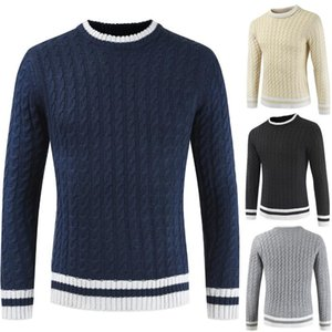 ZOGAA New Men's Long Sleeve Sweater Round Neck 4 Color Casual Wool Knitwear Male Autumn Winter Vintage Warm Knitted Pullovers