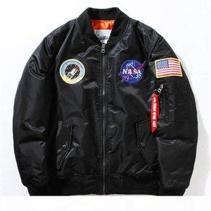 NASA Mens MA1 Bomber Jacket Insignia USAF Kanye West Hip Hop Sport Male Windbreaker Jacket Flag Mens Spring Thin Thick Section Jacket