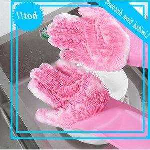 Magic Silicone Dish Washing Gloves Kitchen Accessories Dishwashing Glove Household Tools for Cleaning Car Pet Brush High quality 5 Colors