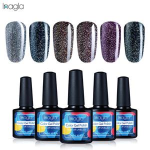 INAGLA 10ML Black Diamond Series Geal Gelish Gelish Polish Soak Off UV LED Geal Gel Polish Lacquer Лак верхний базовый пальто Маникюрный салон