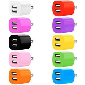 Быстрый заряд Двойные USB-порты ЕС AS AC Home Настенное Зарядное устройство Адаптер питания для Samsung Galaxy S6 S7 S8 S10 Примечание 10 HTC LG Android Phone