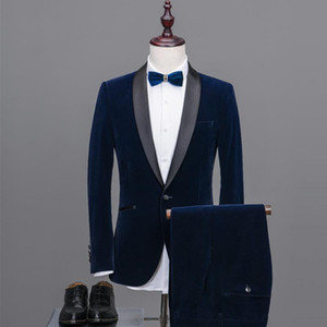 British Business Men Style Super Large High Quality Casual Groom Two Piece Leisure Suit Fashion Size S-XL 2XL 3XL