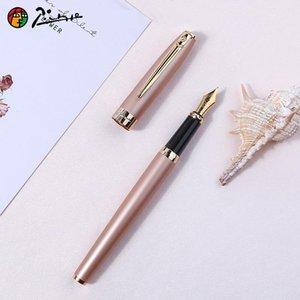 Pimio717 Fountain Pen with Gift Box Hooded Nib 0.38mm Financial Pens Fine Nib 0.5mm Business Office Metal Ink Pens Stationery1