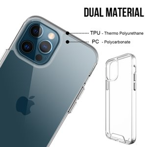 Space Full Clear Shockproof Acrylic Case For iPhone 12 11 Pro XS Max Mini XR X 6 6S 7 8 Plus SE 2020 Transparent Anti-Knock