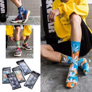 2020 Cotton Skate Socks Men Women Sock Knee-high Funny Cycling Running Hiking Tie Dye Sox Harajuku Hip Hop Happy Socks