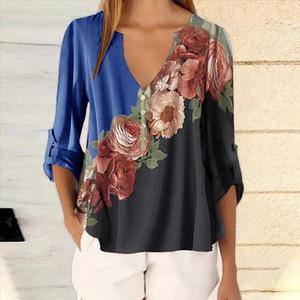 CYSINCOS Summer Floral Print Women Blouse 5XL Plus Size Blouses Half Sleeve Beach Shirt Office Work Shirts Blusas Feminina Top