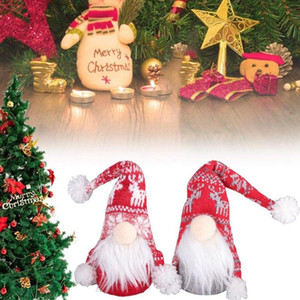 Christmas Faceless Gnome Santa Xmas Tree Hanging Ornament Doll Decoration For Home Pendant Gifts Drop Ornaments Party Supplies