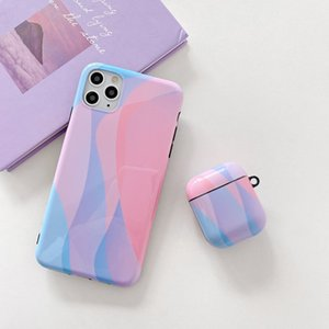 IMD color headset cover is suitable for airpods protective cover TPU soft case iPhone 12promax   11 case