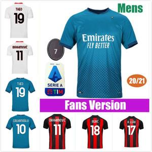 20 21 AC Milan soccer jersey 2020 2021 IBRAHIMOVIC PIATEK football shirt long sleeve PAQUETA BENNACER men kids REBIC camisa de futebol