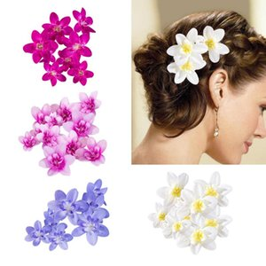 20pcs Artificial Orchid Flowers Simulation Wreath Brooch Wrist Flower Decorative Bouquet Brooch Fake Flowers Wedding Decor
