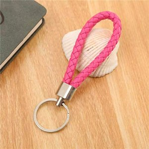 2020 Woven leather rope creative car bag key chain pendant activity gift doll chain pendant factory wholesale