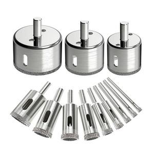 12pcs Diamond Drill Bits Vidrio Agujero de teja de vidrio Sistema de bits, brocas de núcleo hueco, sierras de orificios de removedor de extractor para vidrio, cerámica,