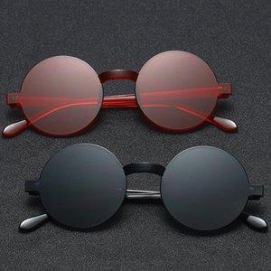 Brillen Sonnenbrille Frameless Rund Neue 2020 Retro Black Einteilige Gläser Farbe Frauen Jelly Jnvqk