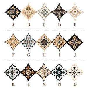 21 Patterns Europe Printed Diagonal Floor Tile Seam Sticker Waterproof Wearable Household DIY Floor Stickers Living Room Decor