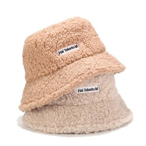 Зимняя шапка Teddy Velvet Fisherman's Hat Письмо вышитое ведро