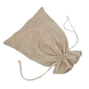 10pcs Retro Natural Cotton Linen Candy Gift Bags Drawstring Bags Wedding Jewelry Storage Bags Pouches Diy Gift Drawstring Pocket sqcdwt