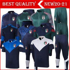 Top 2020 2021 Italie European Adult Entraînement 20 21 ChackSuit italien Insigne Verratti Marchisio Ghiellini Chandal Veste Tracksuit